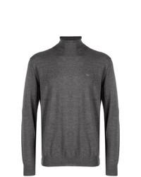 Jersey de cuello alto en gris oscuro de Emporio Armani