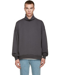 Jersey de cuello alto en gris oscuro de Fear Of God