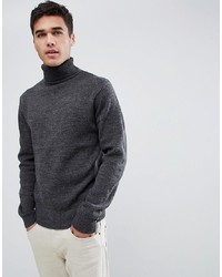 Jersey de cuello alto en gris oscuro de French Connection