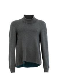 Jersey de cuello alto en gris oscuro de Hed Mayner