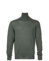 Jersey de cuello alto en gris oscuro de Jil Sander