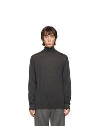 Jersey de cuello alto en gris oscuro de Lanvin