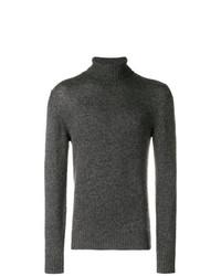 Jersey de cuello alto en gris oscuro de Loro Piana