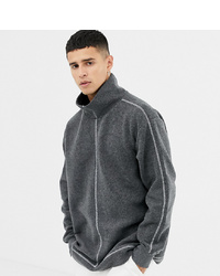 Jersey de cuello alto en gris oscuro de Noak