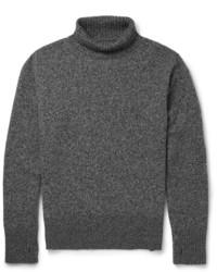 Jersey de cuello alto en gris oscuro de Oliver Spencer
