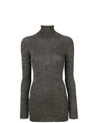 Jersey de cuello alto en gris oscuro de Prada