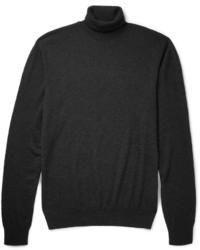 Jersey de cuello alto en gris oscuro de Ralph Lauren Purple Label