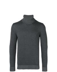 Jersey de cuello alto en gris oscuro de Roberto Collina
