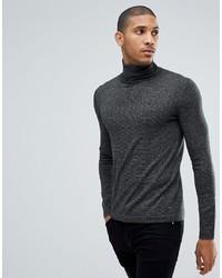 Jersey de cuello alto en gris oscuro de Tom Tailor