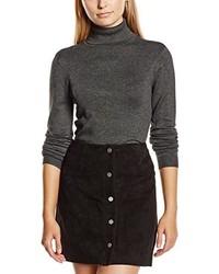 Jersey de cuello alto en gris oscuro de Vero Moda