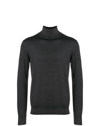 Jersey de cuello alto en marrón oscuro de Dell'oglio