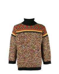 Jersey de cuello alto en multicolor
