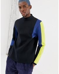 Jersey de cuello alto en multicolor de Collusion