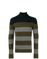 Jersey de cuello alto en multicolor de Roberto Collina