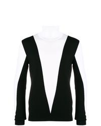 Jersey de cuello alto en negro y blanco de Balmain