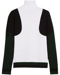 Jersey de cuello alto en negro y blanco de Tod's