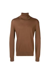 Jersey de cuello alto en tabaco de Ermenegildo Zegna Couture