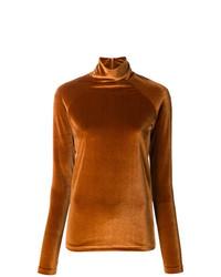 Jersey de cuello alto en tabaco de Haider Ackermann
