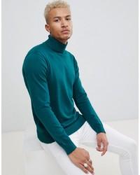 Jersey de cuello alto en verde azulado de Night Addict