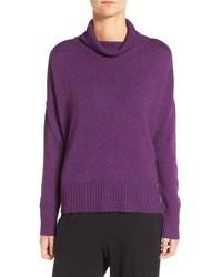 Jersey de cuello alto en violeta