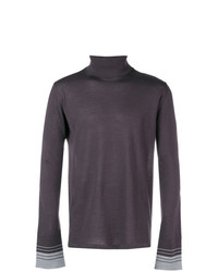 Jersey de cuello alto en violeta de Lanvin