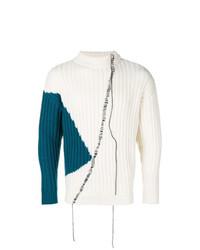 Jersey de cuello alto estampado blanco de A-Cold-Wall*