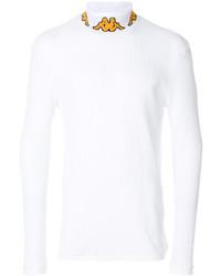 Jersey de cuello alto estampado blanco de Kappa