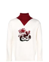 Jersey de cuello alto estampado blanco de Kenzo