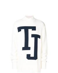 Jersey de cuello alto estampado blanco de Tommy Jeans