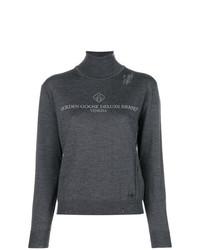 Jersey de cuello alto estampado en gris oscuro de Golden Goose Deluxe Brand