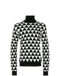 Jersey de cuello alto estampado en negro y blanco de Chalayan