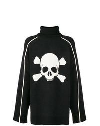 Jersey de cuello alto estampado en negro y blanco de D.GNAK