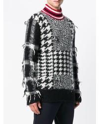 Jersey de cuello alto estampado en negro y blanco de Tommy Hilfiger