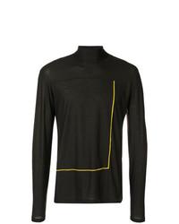 Jersey de cuello alto estampado negro de Oamc