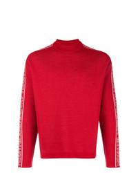 Jersey de cuello alto estampado rojo de MSGM