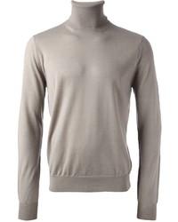 Jersey de cuello alto gris