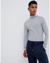 Jersey de cuello alto gris de ASOS DESIGN