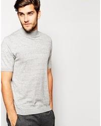 Jersey de cuello alto gris de Asos