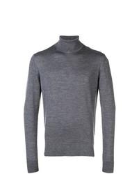 Jersey de cuello alto gris de Calvin Klein