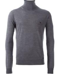 Jersey de cuello alto gris de DSQUARED2