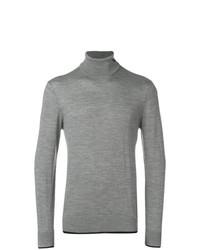 Jersey de cuello alto gris de Emporio Armani