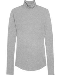 Jersey de cuello alto gris de J.Crew