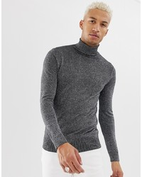 Jersey de cuello alto gris de Night Addict