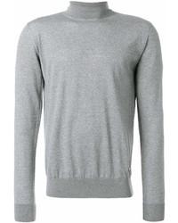 Jersey de cuello alto gris de Versace