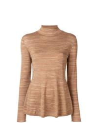 Jersey de cuello alto marrón claro de A.P.C.