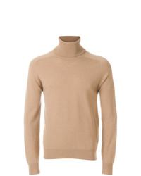 Jersey de cuello alto marrón claro de AMI Alexandre Mattiussi