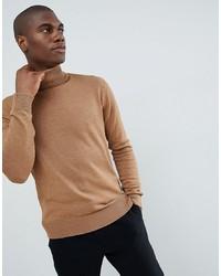 Jersey de cuello alto marrón claro de French Connection
