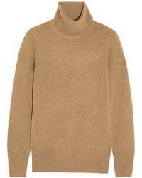 Jersey de cuello alto marrón claro de J.Crew