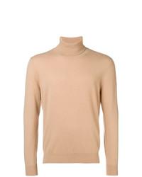 Jersey de cuello alto marrón claro de Laneus