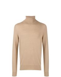 Jersey de cuello alto marrón claro de Maison Margiela